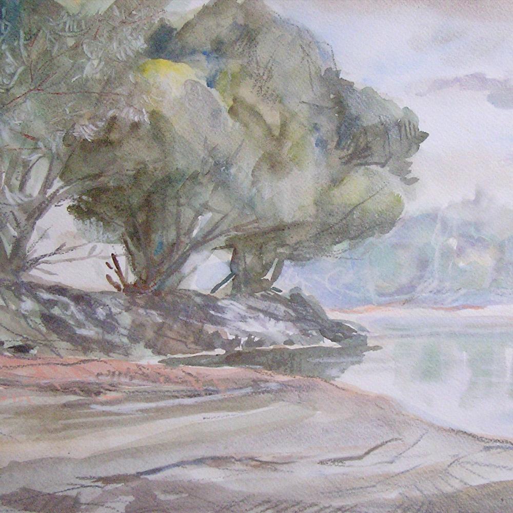 Dubi Árpád akvarellje